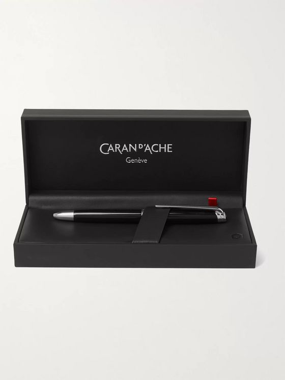 Caran d'Ache Léman Bi-Fonction Rhodium and Silver-Coated Lacquered Ballpoint Pen