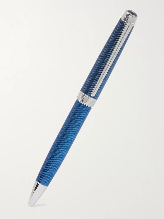 Caran d'Ache Léman Grand Rhodium-Plated and Lacquered Ballpoint Pen