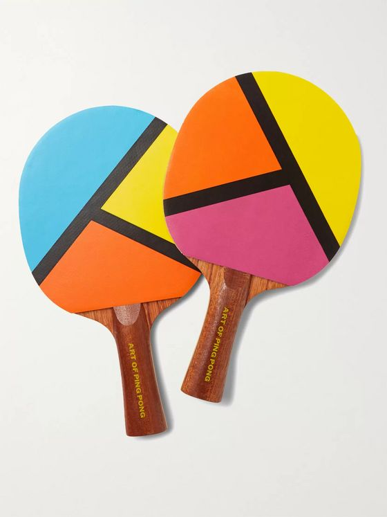 THE ART OF PING PONG Pop Art Printed Ping Pong Bat Set