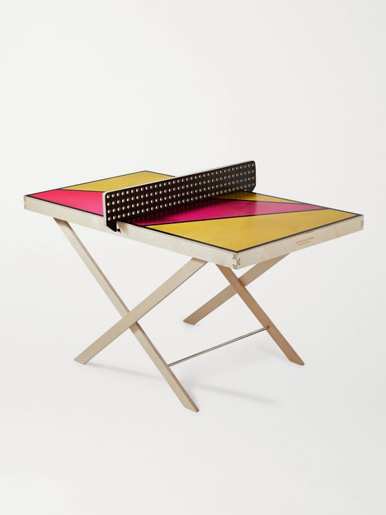 THE ART OF PING PONG Pop Art Printed Wall-Mountable Ping Pong Table