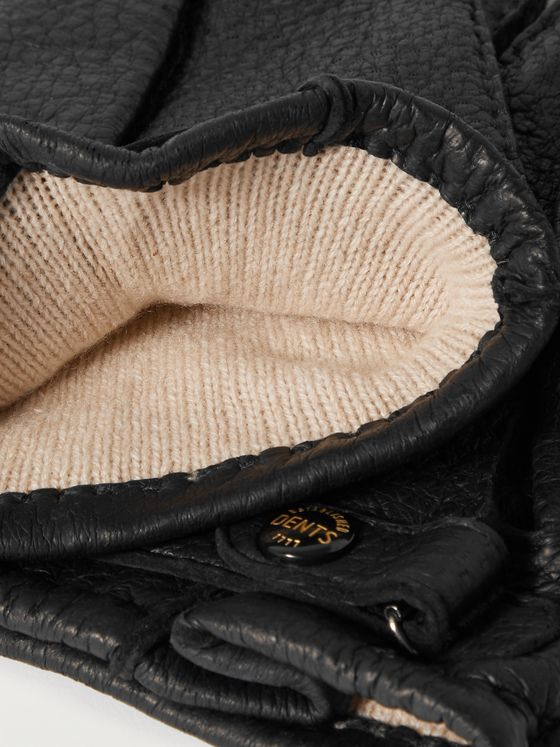 DENTS Hampton Cashmere-Lined Full-Grain Leather Gloves