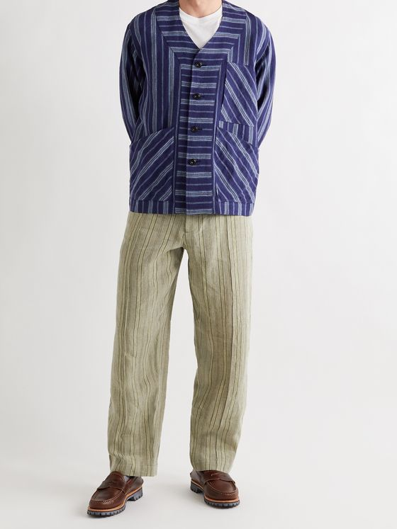 NICHOLAS DALEY Striped Linen Jacket