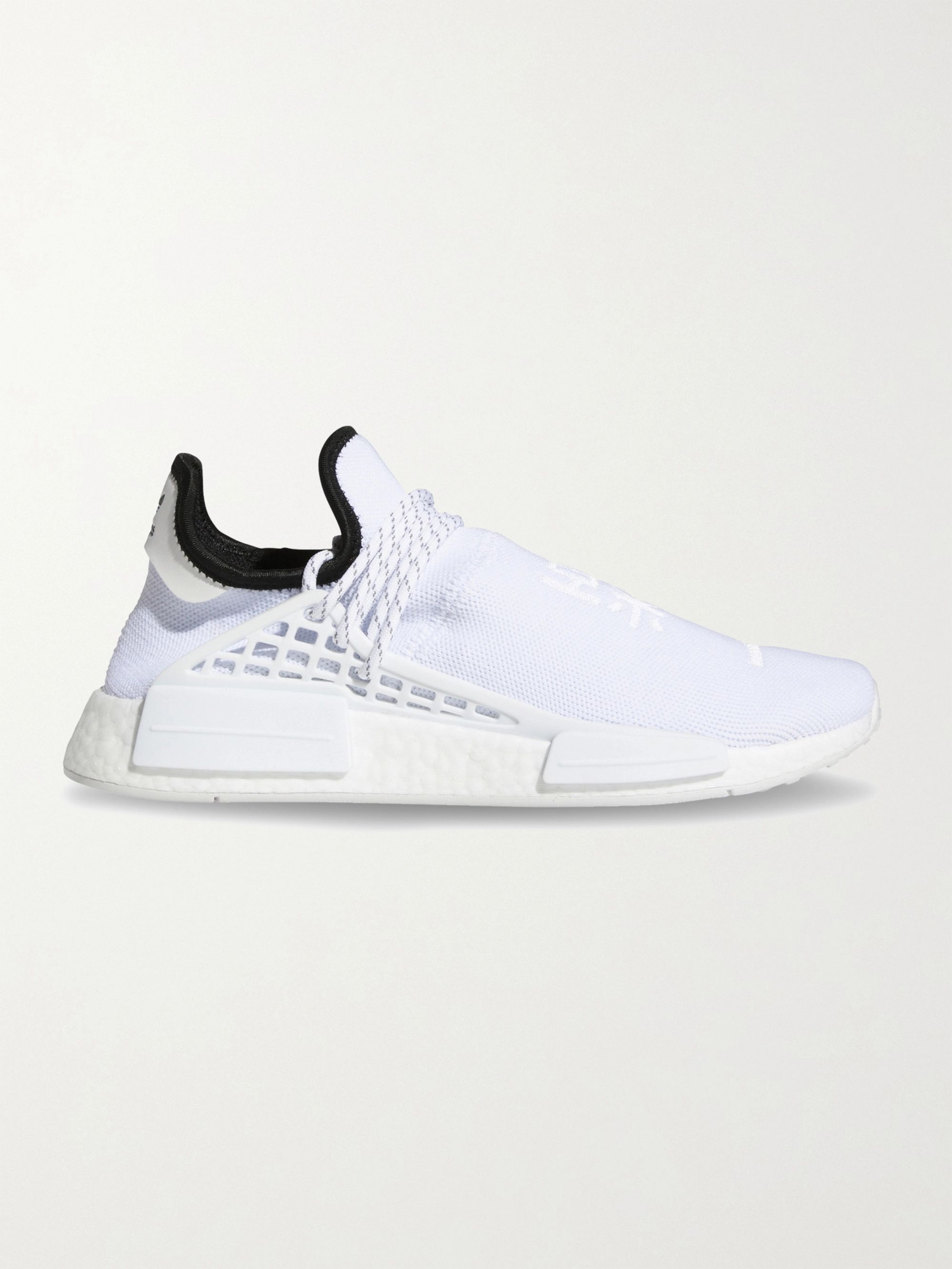ADIDAS ORIGINALS + Pharrell Williams Hu NMD Rubber-Trimmed Primeknit Sneakers