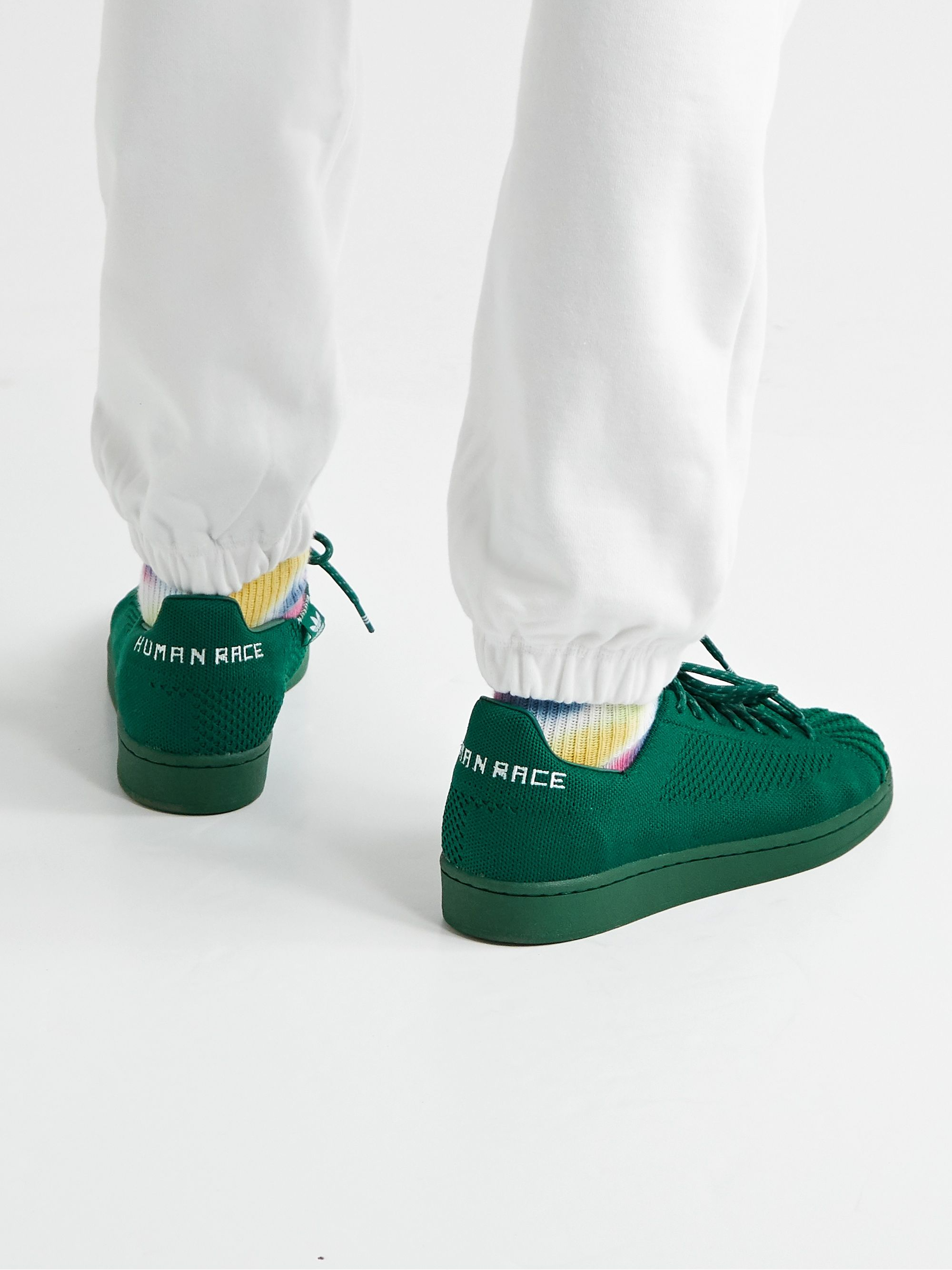 ADIDAS ORIGINALS + Pharrell Williams Superstar Embroidered Primeknit Sneakers