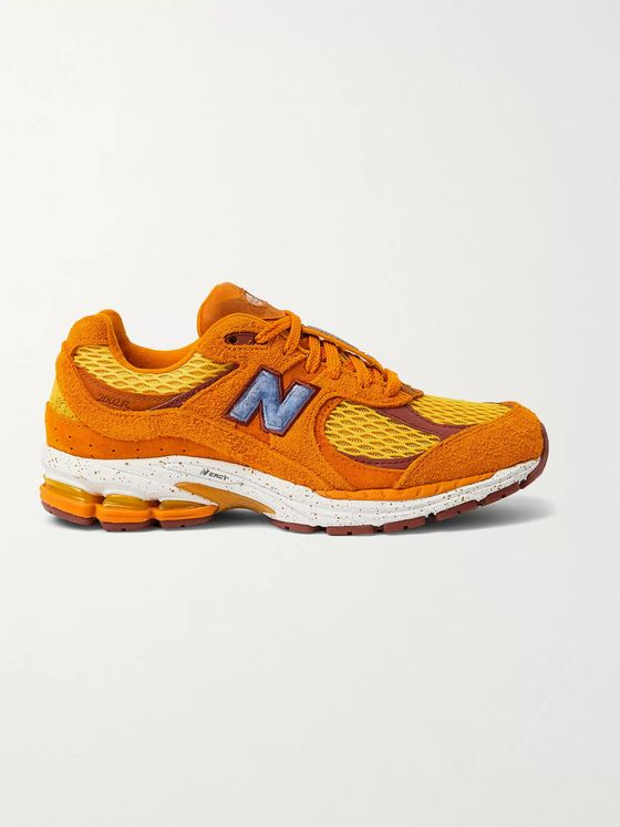 New Balance + Salehe Bembury 2002R Suede, Leather, Mesh and Rubber Sneakers