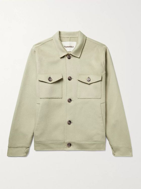 NANUSHKA Rhys Brushed-Felt Jacket