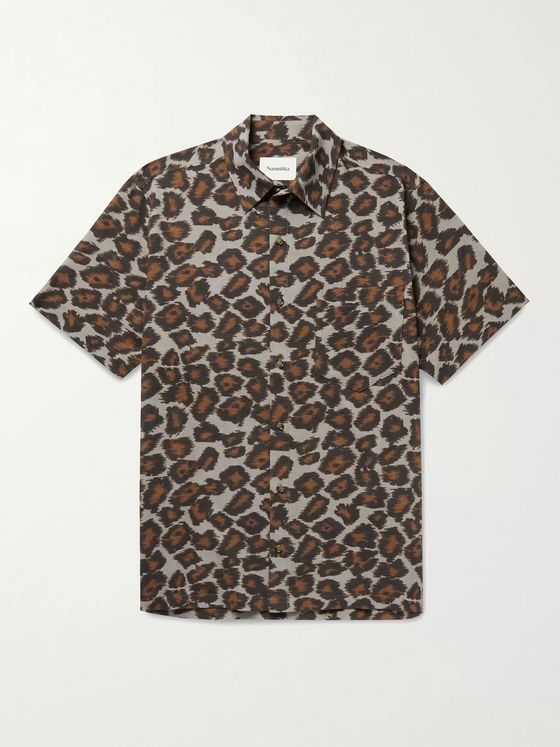 Nanushka Adam Printed Cotton-Voile Shirt