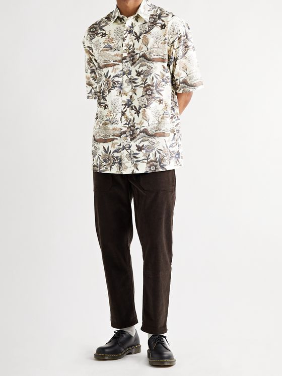 NANUSHKA Alain Printed Cotton and Silk-Blend Shirt