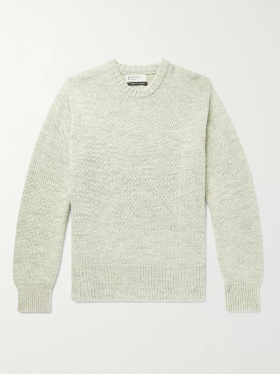 Universal Works Ribbed Mélange Wool Sweater