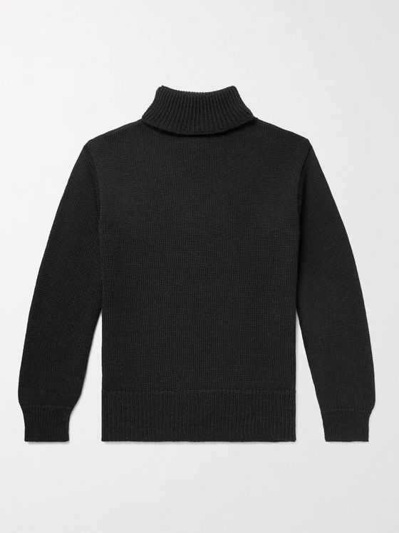 Universal Works Ribbed Wool Rollneck Sweater
