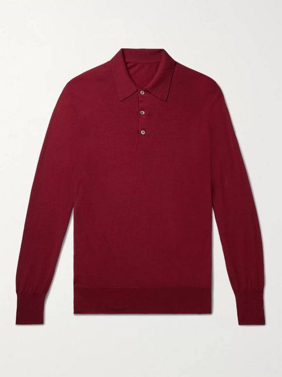 Anderson & Sheppard Virgin Wool Polo Shirt