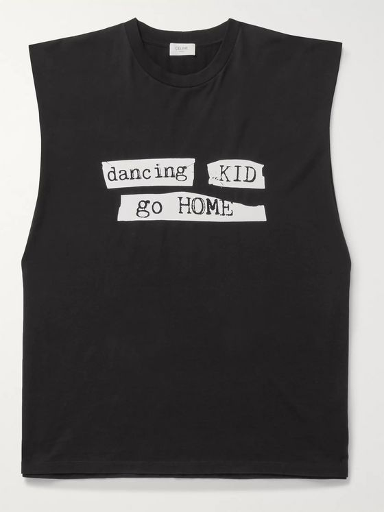CELINE HOMME Screen-Printed Cotton-Jersey Tank Top