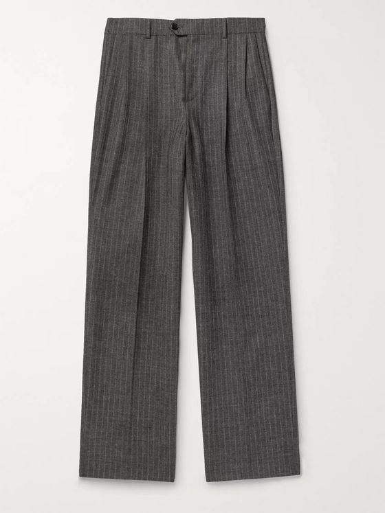 CELINE HOMME Striped Wool Skate Pants