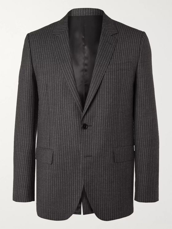 CELINE HOMME Striped Wool Suit Jacket