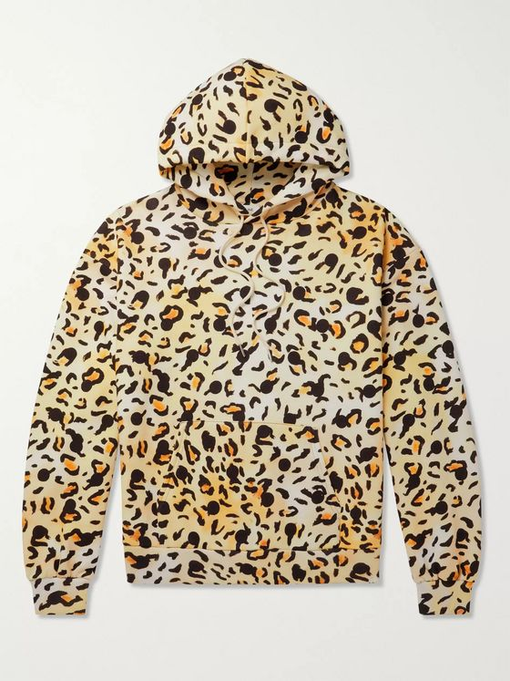 CELINE HOMME + Gregory Edwards Stranded in the Jungle Printed Cotton-Jersey Hooded Sweatshirt