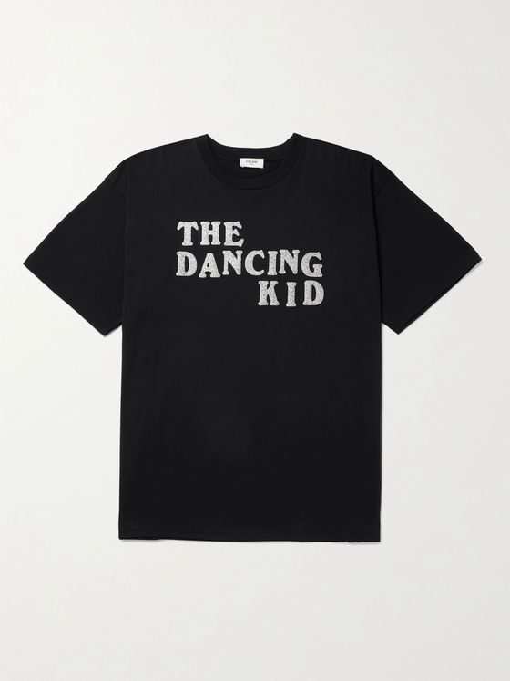 CELINE HOMME The Dancing Kid Glittered-Print Cotton-Jersey T-Shirt