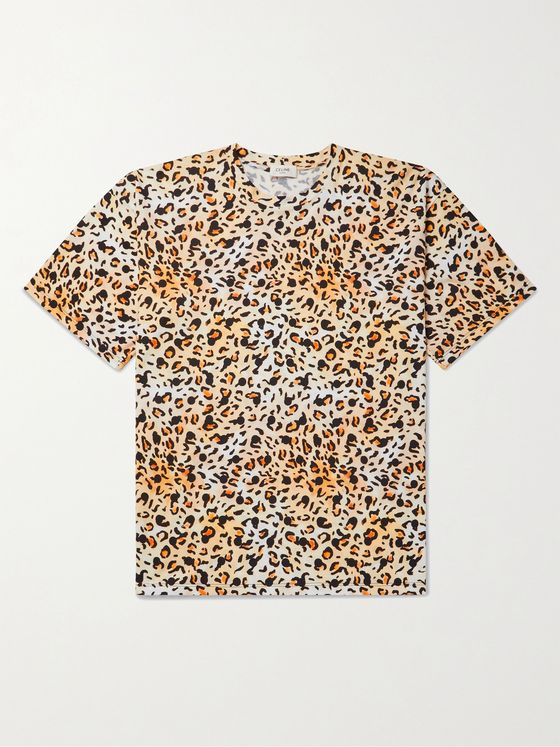 CELINE HOMME + Gregory Edwards Stranded in the Jungle Printed Cotton-Jersey T-Shirt