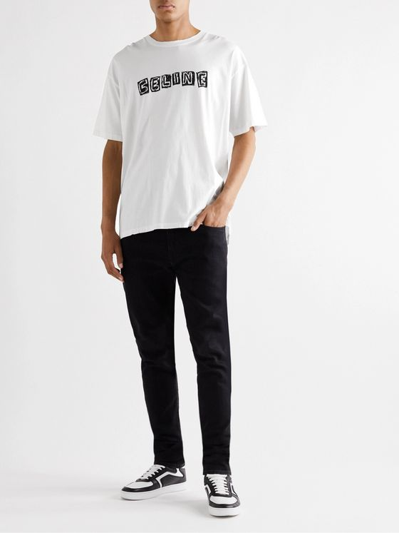 CELINE HOMME Screen-Printed Cotton-Jersey T-Shirt