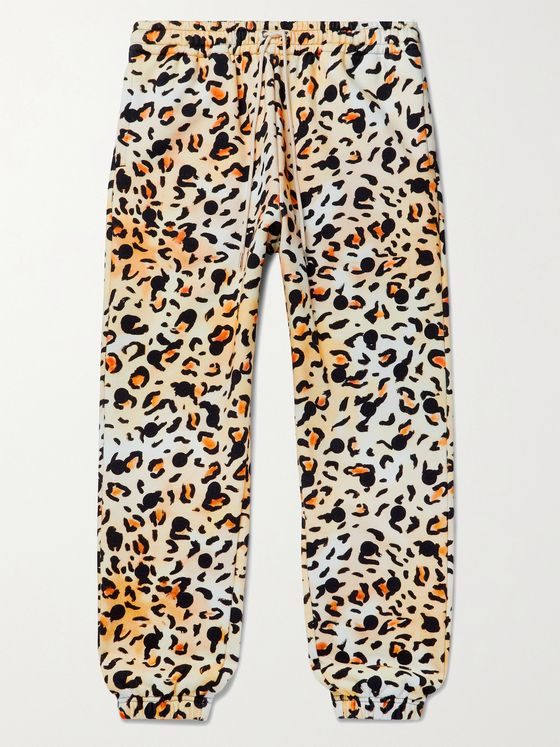 CELINE HOMME + Gregory Edwards Stranded in the Jungle Tapered Printed Loopback Cotton-Jersey Sweatpants