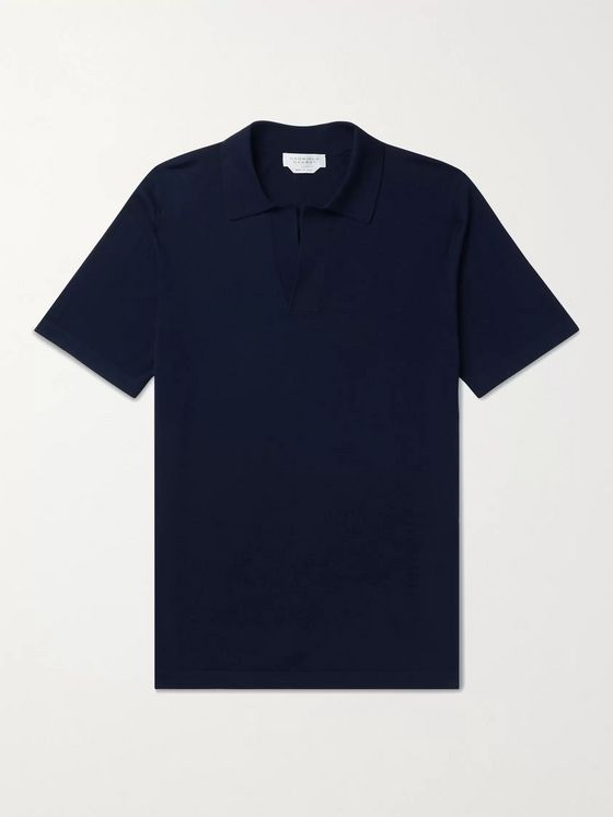 GABRIELA HEARST Jinete Virgin Wool Polo Shirt