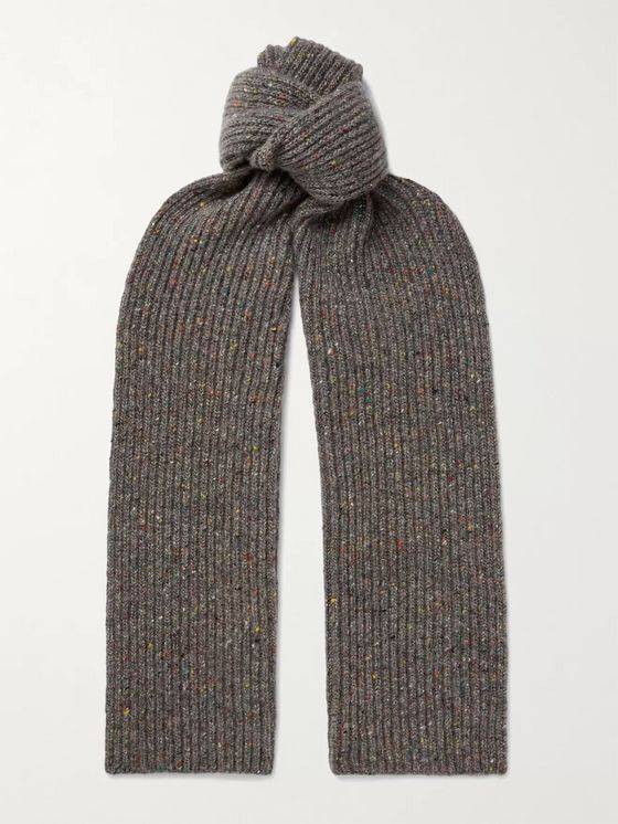 Gabriela Hearst Rubens Ribbed Donegal Cashmere Scarf