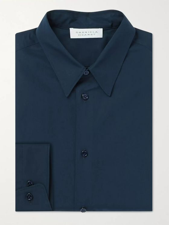 GABRIELA HEARST Quevedo Slim-Fit Cotton-Poplin Shirt
