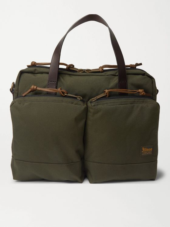 Filson Dryden Leather-Trimmed Nylon Briefcase