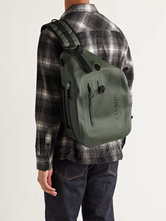 FILSON Logo-Print TPU-Coated 840D Nylon Dry Sling Backpack