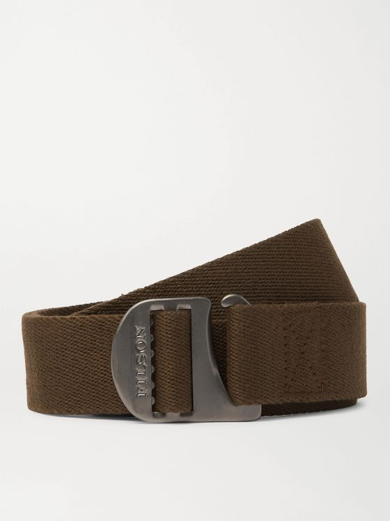 FILSON Togiak 4cm Leather-Trimmed Webbing Belt
