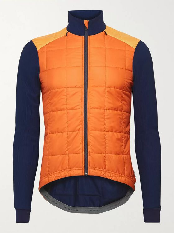 Cafe du Cycliste Léonie Knit and Quilted Shell Jacket