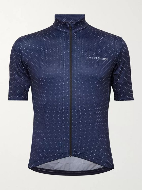 CAFE DU CYCLISTE Fleurette Polka-Dot Cycling Jersey