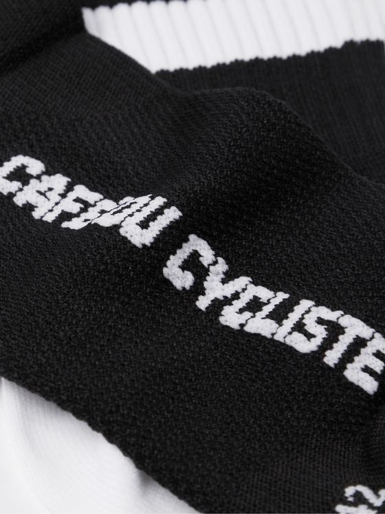 CAFE DU CYCLISTE Striped Stretch-Knit Cycling Socks