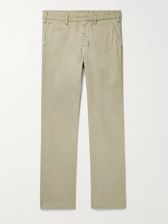 SAVE KHAKI UNITED Slim-Fit Garment-Dyed Cotton-Twill Trousers