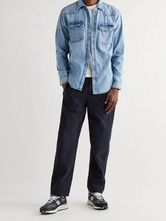 NUDIE JEANS George Glowing Slim-Fit Organic Denim Western Shirt