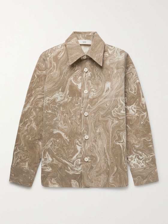 SÉFR Mats Printed Cotton Overshirt