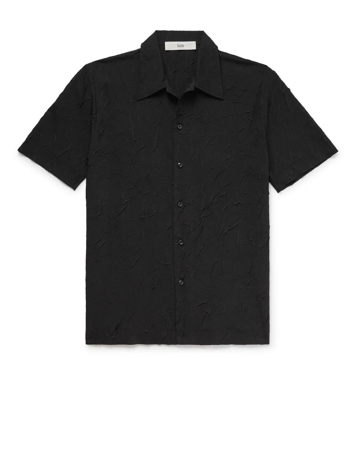Séfr Shirts SUNEHAM EMBROIDERED COTTON-BLEND SHIRT