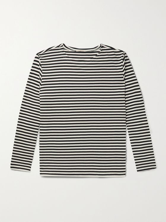 NUDIE JEANS Charles Striped Organic Cotton-Jersey T-Shirt