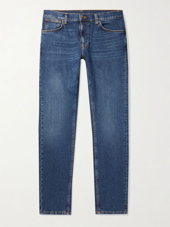 Nudie Jeans Lean Dean Slim-Fit Tapered Stretch-Denim Jeans