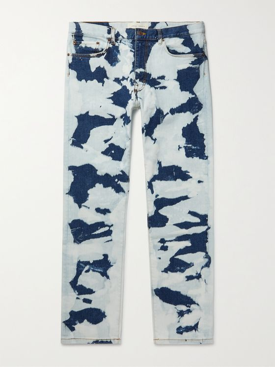 JEANERICA AM001 Autobahn Tie-Dyed Organic Denim Jeans