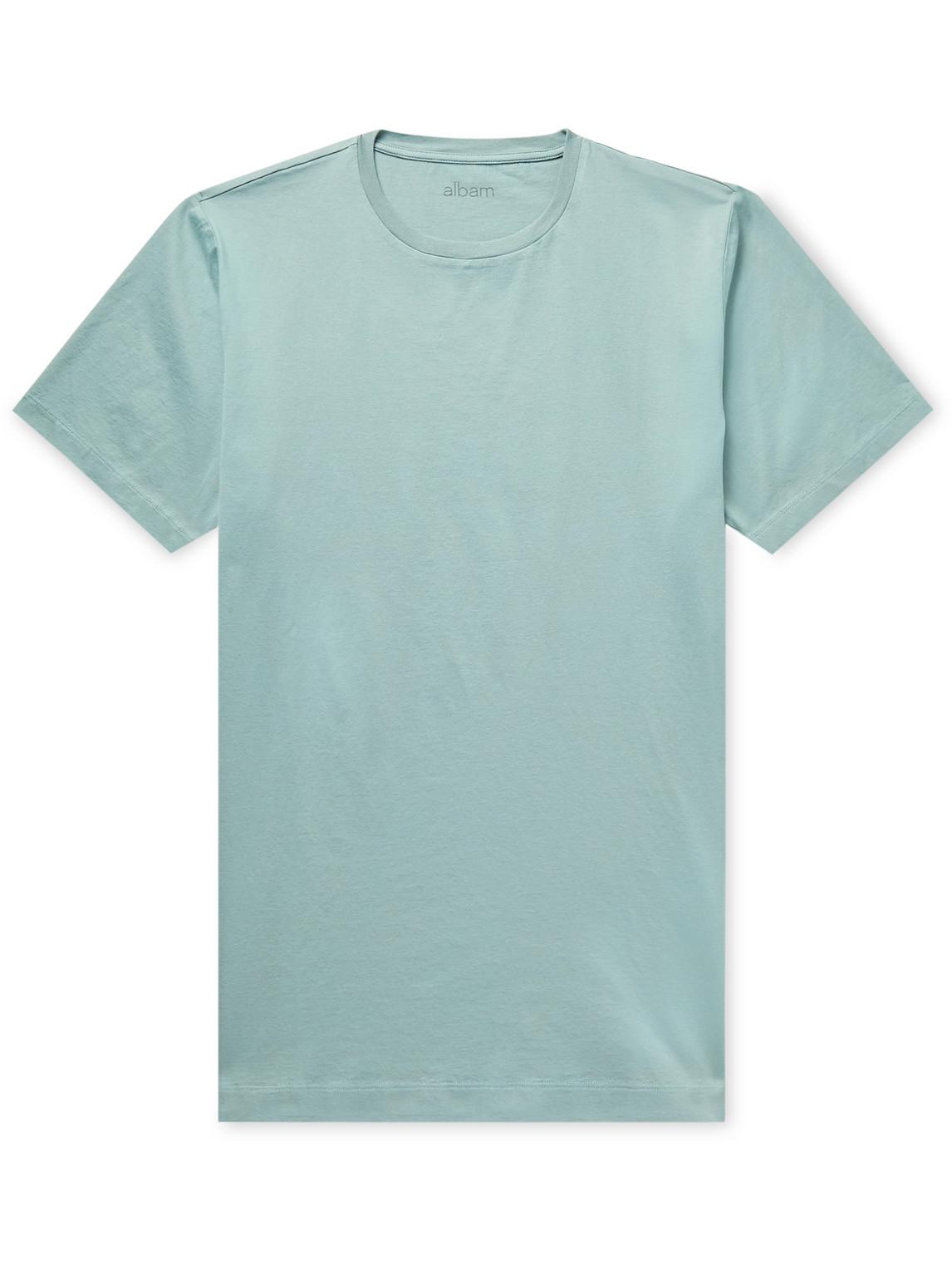 Albam Cotton-jersey T-shirt In Green