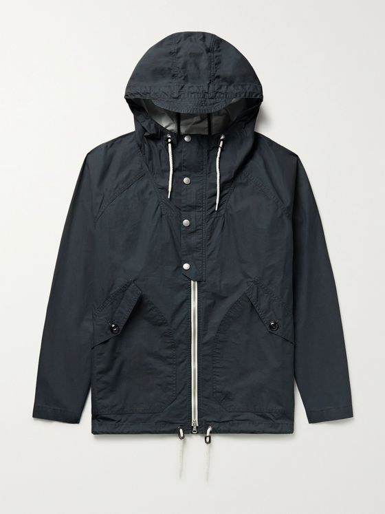 Albam Haston Waxed Cotton-Ripstop Hooded Parka