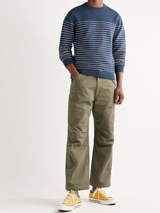Albam Striped Cotton Sweater