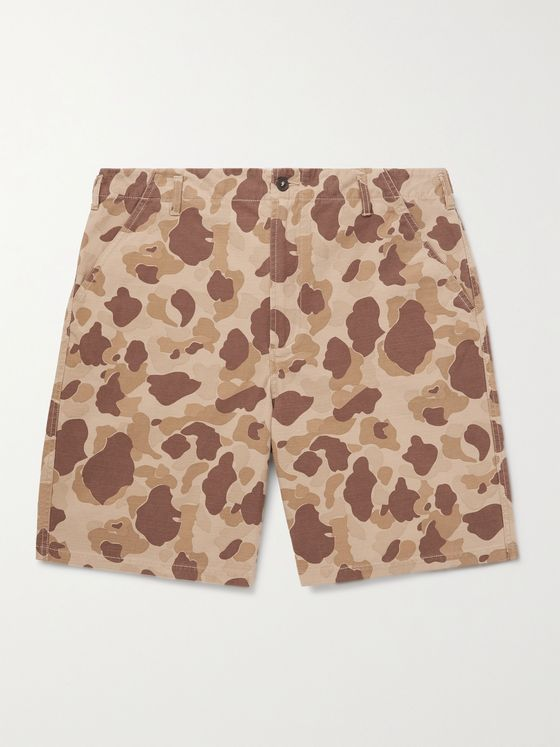 UNIVERSAL WORKS Peacekeeper Camouflage-Print Cotton-Ripstop Shorts