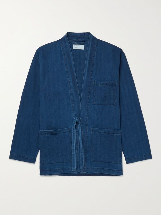 UNIVERSAL WORKS Herringbone Denim Jacket
