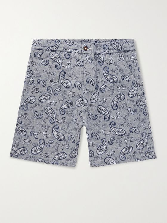 UNIVERSAL WORKS Paisley Cotton-Jacquard Shorts