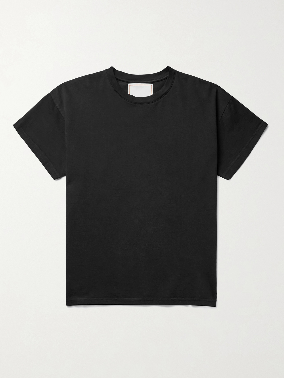 Jeanerica Marcel 180 Organic Cotton-jersey T-shirt In Black