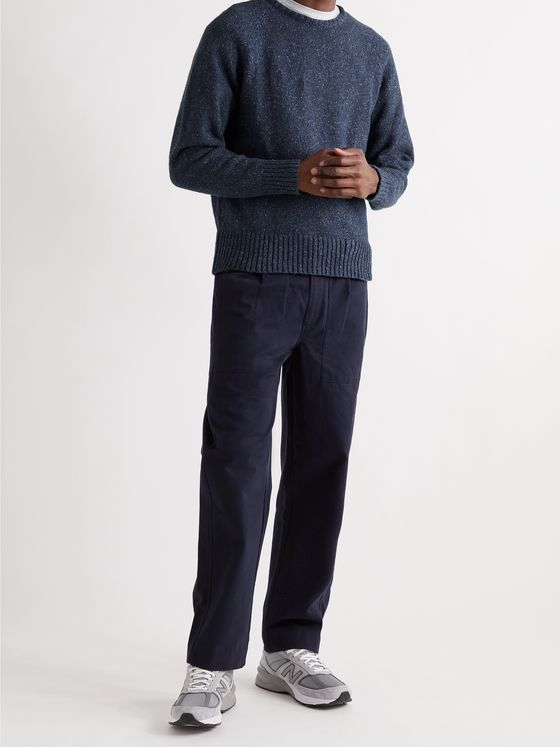 UNIVERSAL WORKS Mélange Knitted Sweater