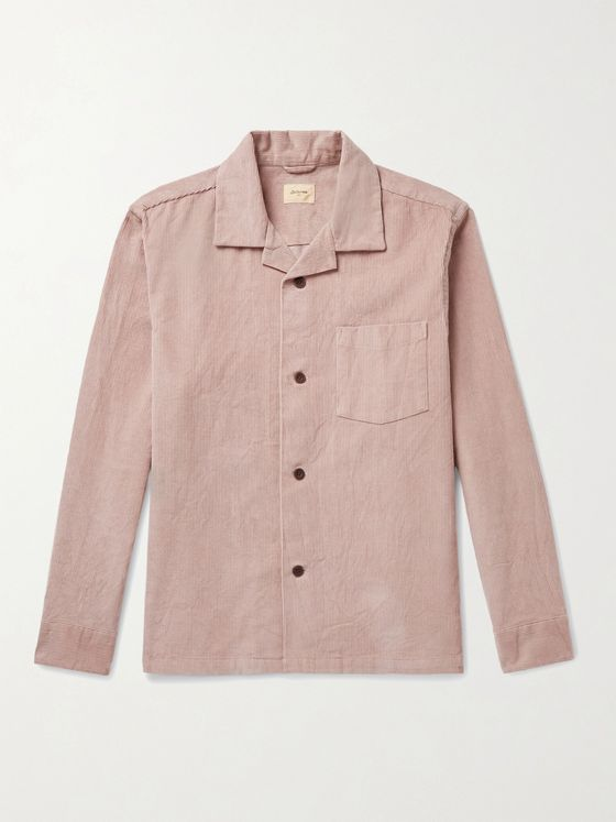 BELLEROSE Goney Camp-Collar Cotton-Corduroy Overshirt
