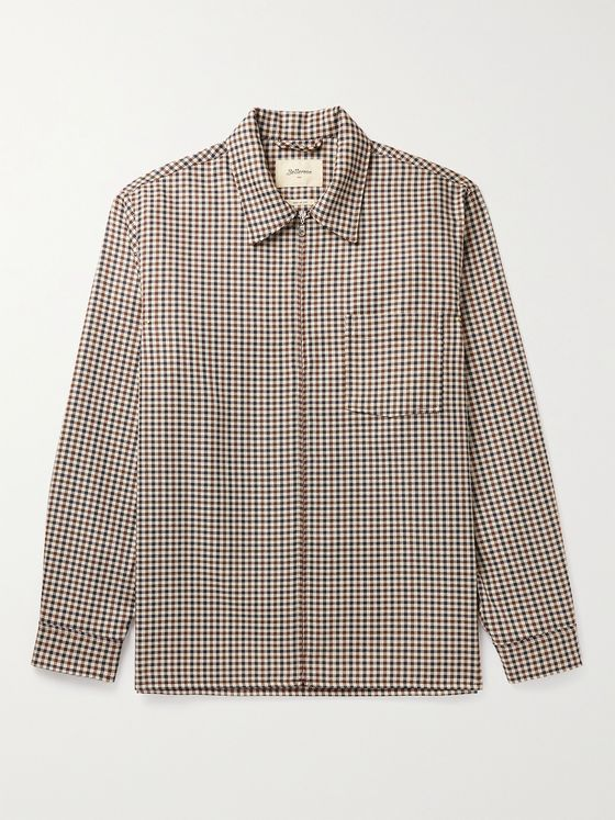 Bellerose Colin Gingham Wool-Blend Twill Shirt Jacket