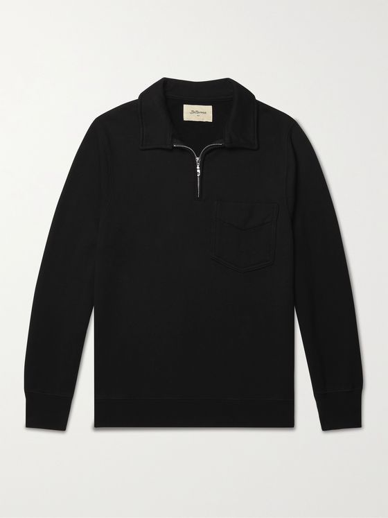 Bellerose Fadi Half-Zip Cotton-Jersey Sweatshirt
